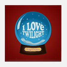 Twilight Snow Globe Tile Coaster