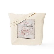 All I Want Edward Christmas Tote Bag