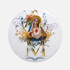 Immaculate Heart of Mary Ornament (Round)