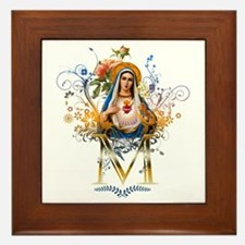 Immaculate Heart of Mary Framed Tile