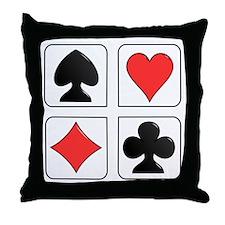 Poker Suit Throw Pillow