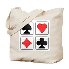 Poker Suit Tote Bag