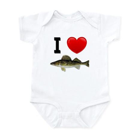 I Love Walleye Infant Bodysuit