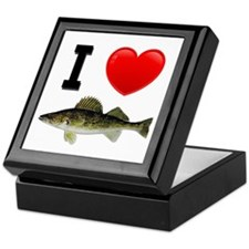 I Love Walleye Keepsake Box
