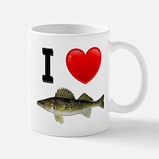 I Love Walleye Mug