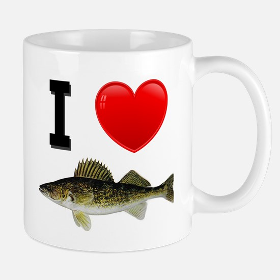 I Love Walleye Mug