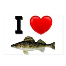 I Love Walleye Postcards (Package of 8)