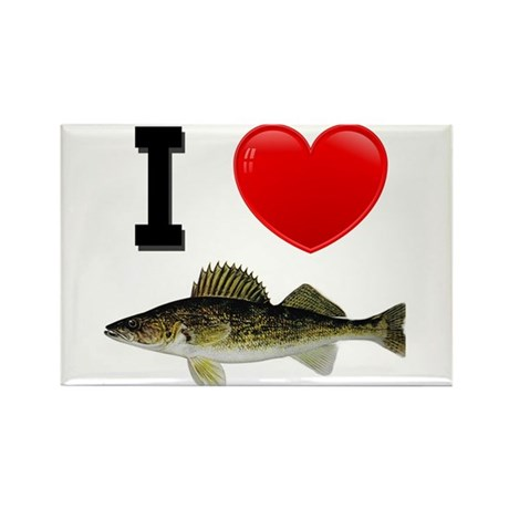 I Love Walleye Rectangle Magnet (10 pack)