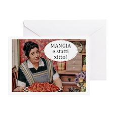 Mangia Greeting Card