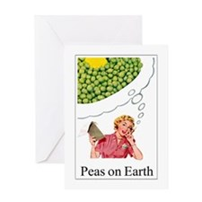 Peas On Earth Greeting Card