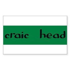 craic head Rectangle Decal