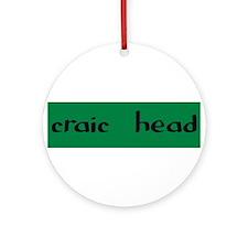 craic head Ornament (Round)