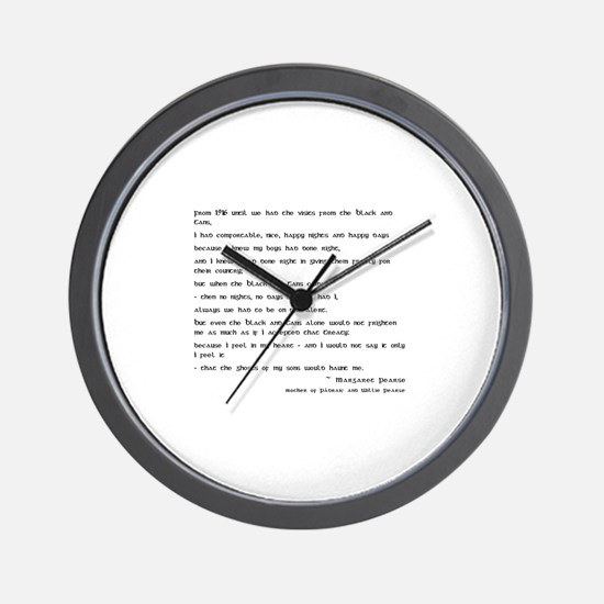 Margaret Pearse Quote Wall Clock