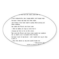 Margaret Pearse Quote Oval Decal