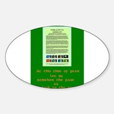 Rememberance Oval Decal