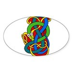 Celtic Artwork Oval Sticker (10 pk)