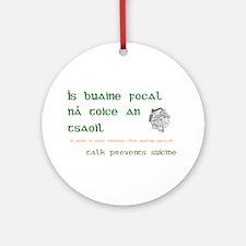 Talk prevents suicide Ornament (Round)