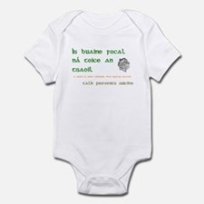 Talk prevents suicide Infant Bodysuit