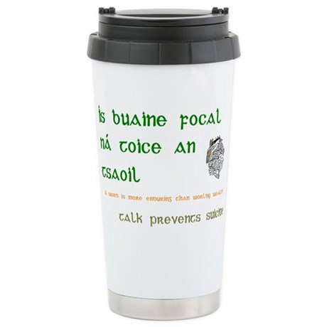 Talk prevents suicide Stainless Steel Travel Mug