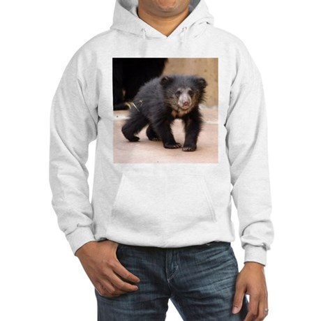 Sloth Bear Cub Hooded Sweatshirt