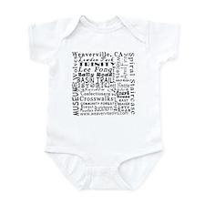 Weaverville Words Infant Bodysuit