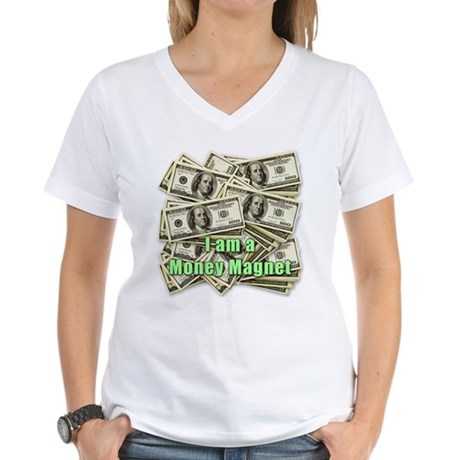Money Magnet Women's V-Neck T-Shirt