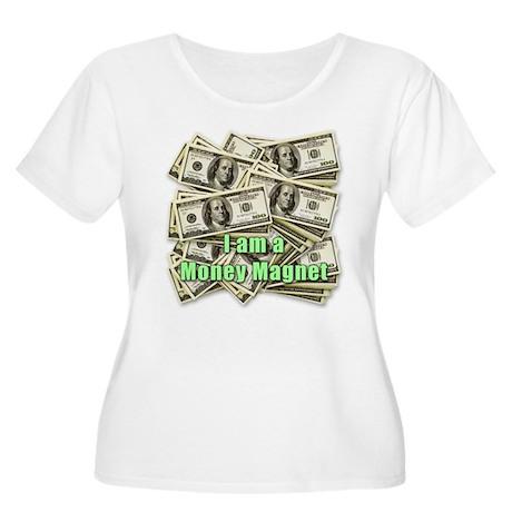 Money Magnet Women's Plus Size Scoop Neck T-Shirt