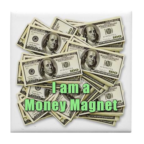 Money Magnet Tile Coaster