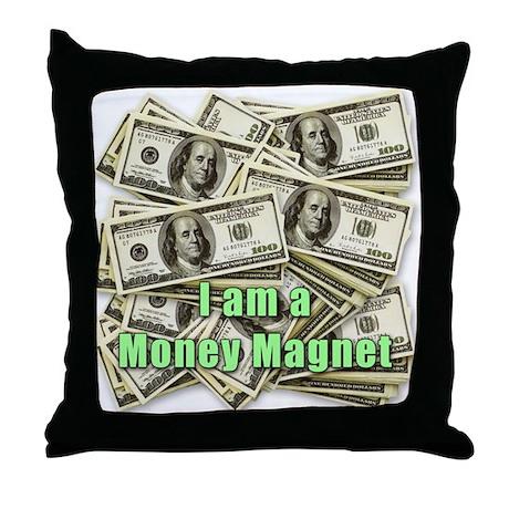 Money Magnet Throw Pillow