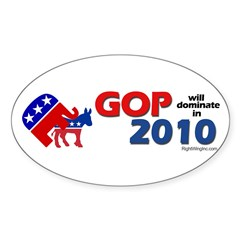 GOP Dominates in 2010 Oval Decal