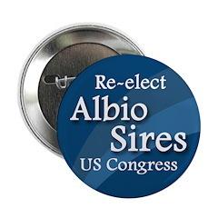 Re-elect Albio Sires to Congress campaign button