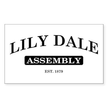 Lily Dale Assembly Rectangle Sticker
