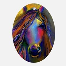 Mustang horse  Oval Ornament