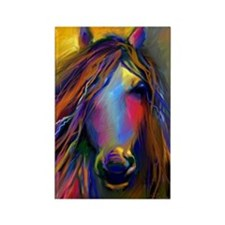 Mustang horse Rectangle Magnet
