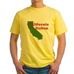 California Italian Yellow T-Shirt