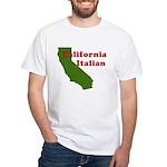 California Italian White T-Shirt