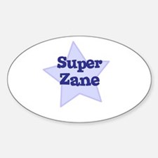 Super Zane Oval Decal