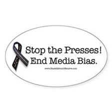 Stop the Presses! End Media Bias. Decal