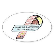 Asher de Geest CDH Awareness Ribbon Oval Decal