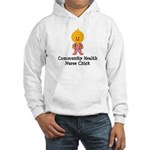 Community Health Nurse Chick Hooded Sweatshirt