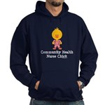 Community Health Nurse Chick Hoodie (dark)