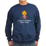Community Health Nurse Chick Sweatshirt (dark)