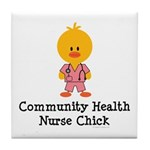 Community Health Nurse Chick Tile Coaster