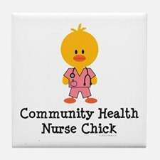 Community Health Nurse Chick Tile Coaster