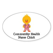 Community Health Nurse Chick Oval Decal