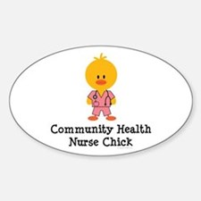 Community Health Nurse Chick Oval Decal