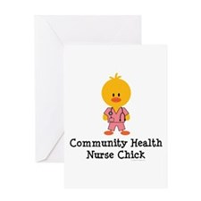 Community Health Nurse Chick Greeting Card