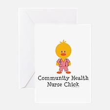 Community Health Nurse Chick Greeting Card