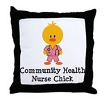 Community Health Nurse Chick Throw Pillow