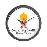 Community Health Nurse Chick Wall Clock